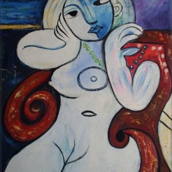 Pablo Picasso Nude Woman in a Red Armchair 1932