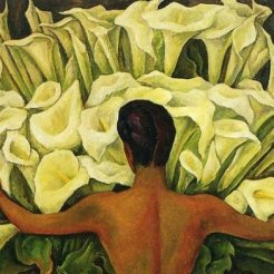 Diego Rivera Nude with Calla Lilies, 1944